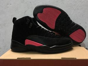 12 GS Rush Rosa Preto Escuro Cinza Esportes Sapatos 12s Unidade Michigan Homens Mulheres Casual Sapatos Tamanho US 5.5-13