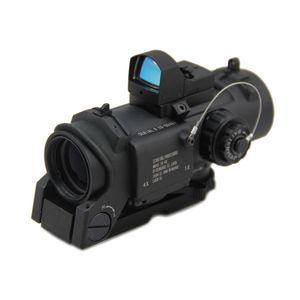 Tactique DR 4x Loupe Fixe Double Rôle Optique Chasse Fusil 4x32 Illumination Mil-Dot Scope Avec Auto Red Dot