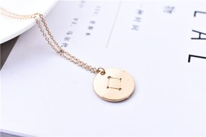 30pcs Dainty Libra Constellation Necklace Libra Sky Diagram Charm Coin Necklace Astrology Jewelry Zodiac Pendant Necklace Birthday Gift