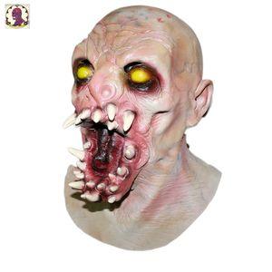 Masque de zombie en dents de sceau d'horreur avec la tête pleine de latex de luxe d'adulte réaliste Halloween pour le costume de Holloween