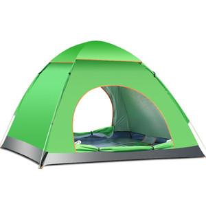 Tende pieghevoli automatiche da 3-4 persone Tende familiari Tenda da campeggio Campeggio Doppia velocità di apertura del rifiuto (verde)
