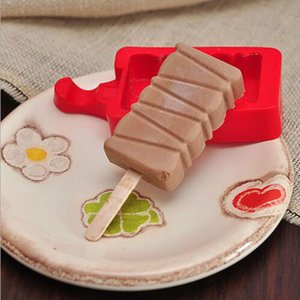 Silikon Kreative Selbst Gemachtes Eis Popsicle Mold Cartoon DIY Eis Kuchenform Popsicle Sticks Mold