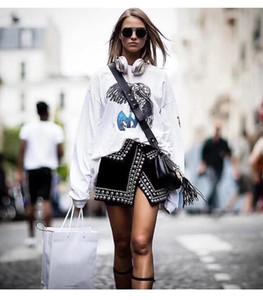 Livraison Gratuite 2018 Perles Noires Côté Fente Empire Courte Femmes Jupes Marque Même Style Jupes Femmes faldas mujer m0057