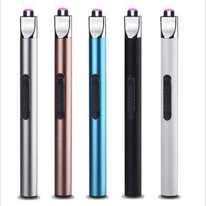 Neueste USB wiederaufladbare Arc Plasma Feuerzeug Winddicht Zigarettenanzünder High Grade Küche BBQ Zigarette Tabak Rauch leichter
