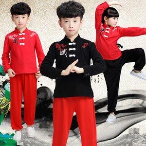 Enfants Wushu Vêtements À Manches Longues Enfants Enfants Kungfu Costume Chinois Vêtements Traditionnels Garçon Fille Taichi Arts Costume 18