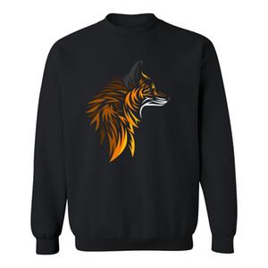 على الانترنت TRIBAL FOX عارضة البلوز الرجال 100 ٪ قطن هوديي مضحك أنيمي الحيوان الهيب هوب فوكس