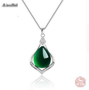 Chaînes de lien en jade naturel en argent sterling 925 pendentifs pour femmes Sterling-Silver-Jewelry Marque Ataullah SSN005