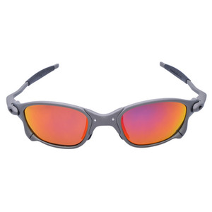 Hombres Ciclismo Gafas de sol Gafas polarizadas Marco de aleación Ciclismo Gafas UV400 Gafas de bicicleta Pesca Oculos Ciclismo D4-7