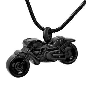 IJD8605 Acero Inoxidable 316L Motocicleta Vintage Biker Colgante Cremación Joyas Recuerdo Memorial Urna Collar para Cenizas