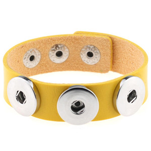New National Bracelets à breloques Noosa Trendy Bracelet Gingembre Snap Button Bijoux Bracelet Meilleur cadeau PU Bracelet en cuir DIY bijoux