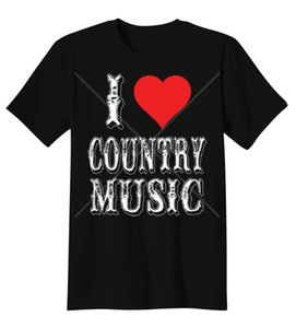 T-shirt di design I Love Country Music