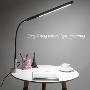 LED Nail Art Masa Lambası Klip Ofis 360 Derece Rotasyon Ultra-Ince Metal Kol Göz Bakımı Soğuk Işık Dövme Tırnak Sanat Masa Lambası 1 ADET