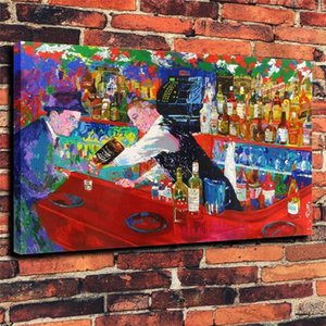 LeRoy Neiman Frank Sinatra von Rao Bar, 1 Stück Leinwand Wandkunst Ölgemälde Home Decor (ungerahmt / gerahmt)