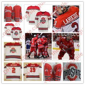 Мужская штат Огайо Buckeyes пользовательские колледж хоккей Белый любое имя любое количество дешевые персонализированные большой десять Моды сшитые трикотажные изделия S-3XL