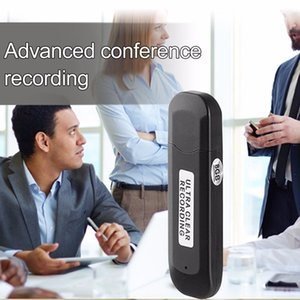 MINI USB disk مسجل صوت رقمي 8GB متعدد الوظائف صغير الحجم تسجيل صوتي محمول U- القرص مسجل صوت