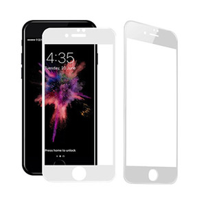 5pcs For iPhone X Retail 5D Tempered Glass 9H Screen Protector Film Full Cover Curved Edge for iPhone 8 Plus 6