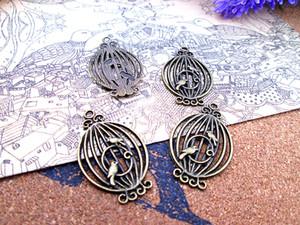 45pcs - 33 * 20mm bronze antique beaux pendentifs Charms