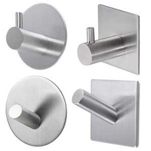 Stainless Steel Strong Self Adhesive Towel Hook Heavy Duty Key Rack Bathroom Kitchen Wall Door Towel Hanger