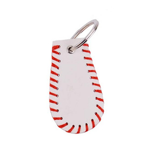 Leder Sport Schlüsselanhänger Baseball Stitch Keychain Zubehör