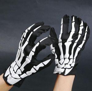 Fashion Halloween Horror Skull Claw Bone Skeleton Goth Guanti integrali Guanti invernali Donna Uomo che guida i guanti
