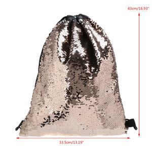 THINKTHENDO новых женщин блесток шнурок рюкзак блеск сумка покупки дорожные сумки мода повседневная сумка