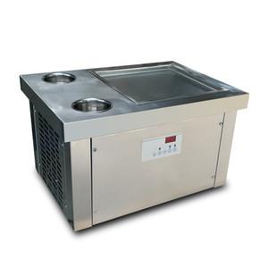 Бесплатная доставка 35см лоток стол столешница столешница мгновенный помешивая, обжарить машина мороженого мгновенным Жареное мороженое рулон машина с хладагентом