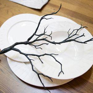 فروع شجرة نبات اصطناعي محاكاة أوراق الشجر أغصان صغيرة وهمية الجاف الطبيعي pvc مانزانيتا المجففة رامت للزينة الزفاف