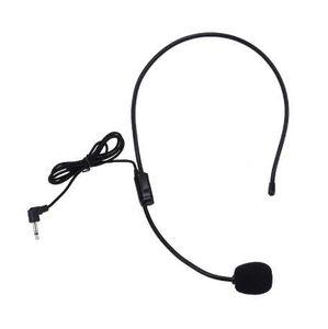 ALLOYSEED портативный гарнитура микрофон проводной 3,5 мм разъем конденсаторный микрофон универсальный для громкоговорителя для гида преподавание лекции