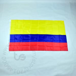 كولومبيا العلم الوطني شنقا غرفة الديكور. الحرة الشحن 3X5 FT / 90 * 150CM شنقا العلم كولومبيا الوطنية الديكور المنزلي راية