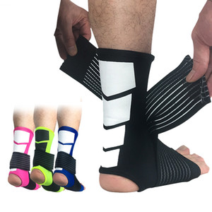 1 par de seguridad deportiva tobillo apoyo fuerte tobillo vendaje elástico apoyo protector de la pierna deporte gimnasio abrigo de pie protección envío gratis
