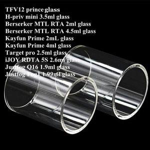 TF12 Prinz H-priv min Berserker MTL RTA Kayfun Prime Ziel pro iJoy RDTA 5S Justfog Q16 FOG1 Behälter Pyrex Ersatzglasrohr DHL