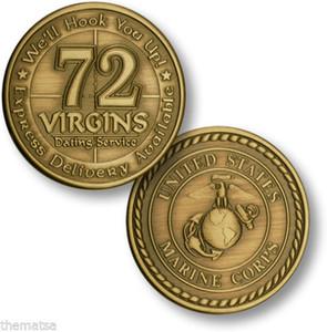 Vintage militärische bronzierte Münzen 72 Jungfrauen aus dem Dienst Armee Handwerk United States Marine Corps Herausforderung Münze 40 * 3mm