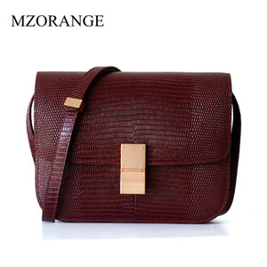 2018 Autumn and Winter Tofu Hand Rubbing New High-end Leather Women Bag Lizard Pattern Bag