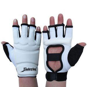 قفازات التايكوندو القتال اليد حامي WTF المعتمدة فنون الدفاع عن النفس الرياضي اليد الحرس PU جلدية للياقة البدنية قفازات الملاكمة