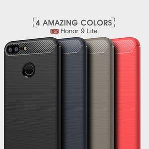 10 UNIDS Cajas de teléfonos móviles para Huawei honor9 Lite Caja de fibra de carbono de lujo de alta resistencia para huawei disfrutar 7S contraportada