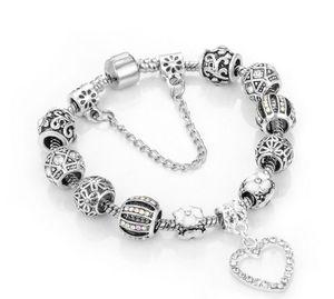 Charme-Korn-Armbänder 925 Silber fit für Armband Loveheart Anhänger Armband-Charme-KLEEBLATT Perle als Geschenk Diy Frauen Schmuck