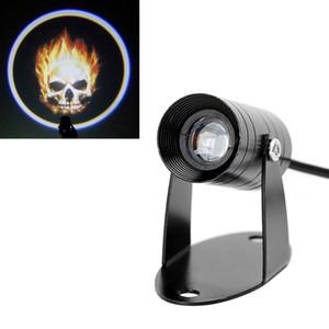 Cranio del fantasma posteriore del motociclo Waring Luce Rider Flaming fendinebbia di coda Luci Moto Logo 3D LED proiettore della luce laser Rimontare
