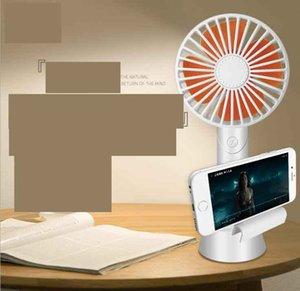 Alta calidad Aromatherapy Handheld USB Fan Mini con soporte para teléfono móvil Cargador de escritorio Mute Fan Gift Fan Para uso oficial de la casa