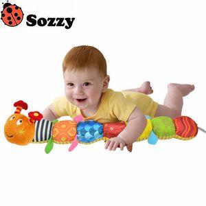 Sozzy Baby Toy Good FOr Inteligencia Musical Caterpillar Rattle Ring Bell Lindo Animal de la historieta de la muñeca de la felpa Educativo temprano al por mayor