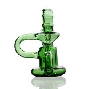 Mini vetro blu verde Bong Water Pipes Pyrex riciclatore Olio Rigs per fumatori a buon mercato Spesso Recycler carino Nano Bubbler