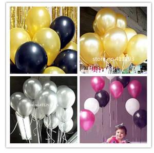 20pcs / lot 2.2g thicken 금속 ballons 진주 풍선 웨딩 풍선 생일 글로브 핑크 블루 블랙 골드 실버 ballons