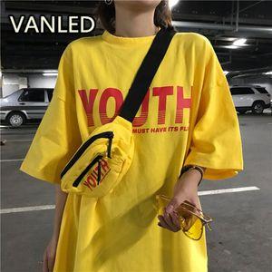 여름 거리 패션 Leer 인쇄 짧은 소매 오 - 목 느슨한 티셔츠 여자 양복