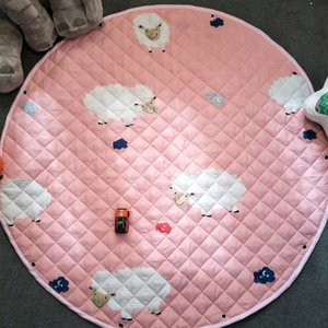Round child cotton receives the ground cushion for the field trip to crawl the green cartoon floor mat.