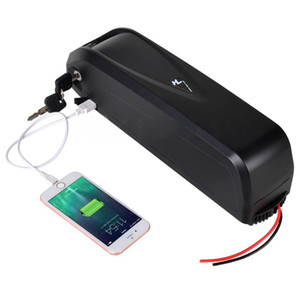AB ABD YOK VERGISI 48 V 17Ah 750 W 1000 W E-bike Pil Li-Ion Lityum elektrikli bisiklet Pil Anahtarı ile + 5 V USB portu