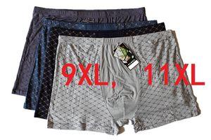 9XL11XL 4 Pçs / lote Cueca Boxers Macio de Fibra De Bambu Boxer Homens Imprimir Boxers Shorts Plus Size Mens Underwear QUENTE