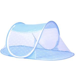 Infant Baby Baby Mosquito Net plegable tipo de nave Portable plegable Mosquito Crib Netting instalación libre duradera