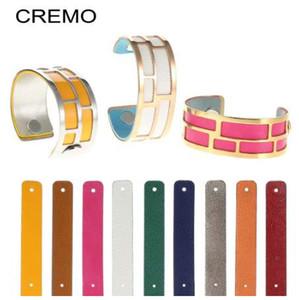 Cremo PU Cinturino in pelle reversibile intercambiabile da 25 mm Accessorio per bracciale donna in acciaio inossidabile personalizzato
