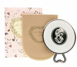 LADUREE Les Merveilleuses miroir de poche el aynası bağbozumu metal tutucu cep kozmetik Taşıma çantası perakende paketi ile makyaj aynası.