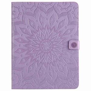 Mandala Flower Embossed Sleep Wake UP Flip Wallet Stand PU Funda de cuero para ipad Mini 123 4 Nuevo ipad 9.7 2017 2018234 Air 1/2 T280 T350