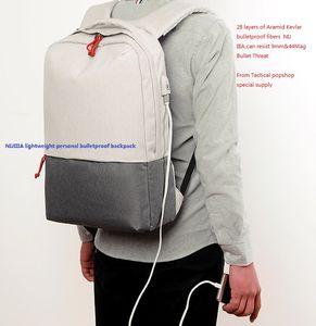 NIJ IIIA lightweight ballistic kevlar backpack Softback business personal protection School Bulletproof shockproof